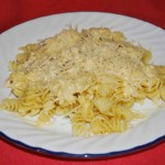 Crockpot chicken alfredo with rotini