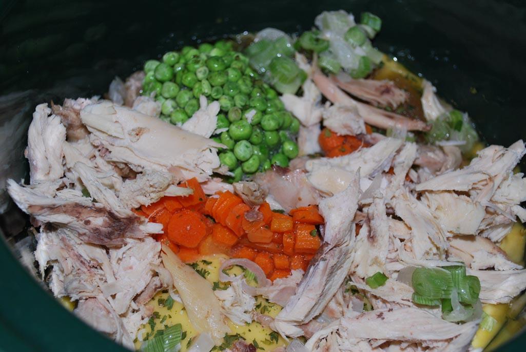 Crockpot chicken and dumplings mixture