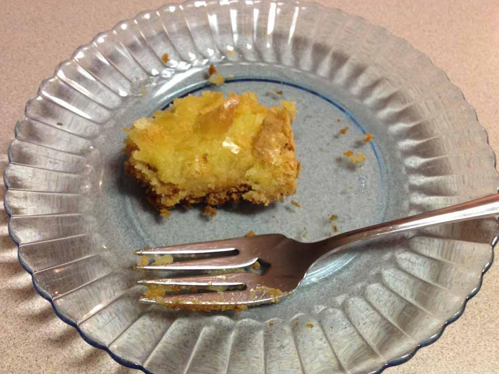 Gooey Cake crumbs