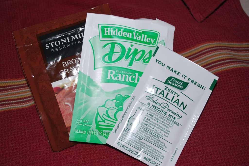 Three seasoning packets