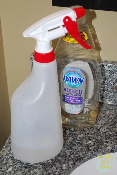 Homemade window cleaner