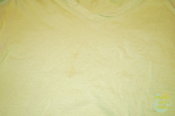 Set-in tomato stain