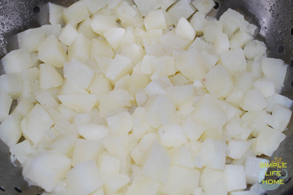 diced cooked potatoes